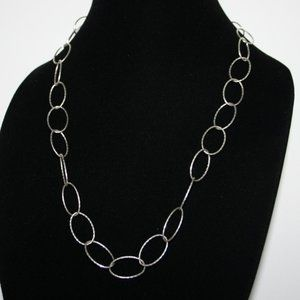 """Beautiful silver Link necklace 22"""""""